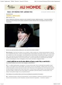 Contrer lÕimpuissance - ThŽ‰tre / Entretien - Journal La Terrass