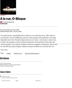 A la rue, O-Bloque (spectacle ˆ Paris) - TŽlŽrama Sortir
